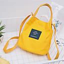 Ženy Bucket tašky Kanvas Celý rok Ležérní Soudek Zacvakávací Vodní modrá Černá Světlá růžová Žlutá Tmavě zelená