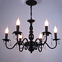 Evropský styl lustr obývací pokoj svíčka křišťálová lampa jednoduchý železo umění vedl ložnice jídelna lampa dekorativní lampa