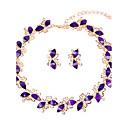 Žene Komplet nakita Ogrlica / narukvica Svadbeni nakit Setovi Umjetno drago kamenje Moda Euramerican Smola Rhinestones Taper Shape Za