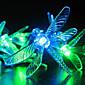 Solární zahradní světla, 30 Více Barevné Dragonfly LED světla (Cis-57178)