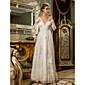 Lanting Bride® Kroj uz tijelo Veći brojevi / Sitna Vjenčanica - Šik i moderno / Za prijem Vintage inspirirano / Open Back Do poda V izrez