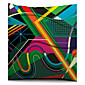 Šareni geometrijski skica pamuk / lan dekorativni jastuk pokriti