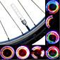 自転車用ライト ホイールライト パルブキャップフラッシングライト LED サイクリング セルバッテリ ルーメン バッテリー サイクリング
