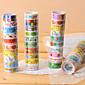 派手な接着スクラップブッキング用接着剤は、2.2メートル(10個のランダムな色)をテープで固定します