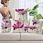set 5 elegantna svijetlo ljubičasta cvjetni uzorak pamuka / lana dekorativne jastučnicu
