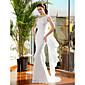 Lanting Bride® トランペット/マーメイド 小柄 / 大きいサイズ ウェディングドレス スイープ/ブラシトレーン ストラップ シフォン とともに