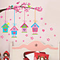 Botanički Romantika Cvjetnih Zid Naljepnice Zidne naljepnice Dekorativne zidne naljepnice,Vinil Materijal Ponovno namjestitiPočetna