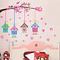 zidne naljepnice zidne naljepnice, kreativne ružičasta Birdcage PVC zidne naljepnice