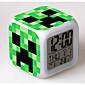 7 promjena boje digitalni budilica dovela termometar Blizu šarene užaren igračke