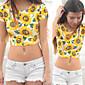 T-Shirts ( Polyester ) Plage / Informel Rond à Manches courtes pour Femme