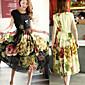 Sexy kulatý tvar - Krátké rukávy - ŽENY - Dresses ( Šifón )