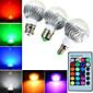 5W E14 / B22 / E26/E27 LED okrugle žarulje B 3 Visokonaponski LED 400 lm RGB Može se prigušiti / Na daljinsko upravljanje / UkrasnoAC