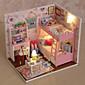 kreativní dárky kutilství řemesla dar k narozeninám chata modelu DIY domeček pro panenky včetně všech nábytek Světla žárovku vedené