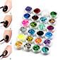24 barevné hexagon flitry nail art ozdoby