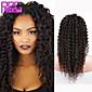 najprodavaniji ljudske kose kinky kovrčava čipke ispred perika # 1B središnjem dijelu kovrčava čipke perika za crne žene