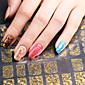 3d nail art plný hřebík nálepka zlatá barva, 60 obtisky / list, 5 různých stylů na 1 list, pro 5 párů rukou-Yilin-83g