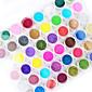 45ks mix barev nail art akryl prášek nail art dekorace