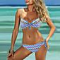 Ženski Bikini-Grudnjak na vezanjeColor block-Najlon / Spandex