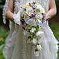 Svatební kytice bez formy kaskády Růže Kytice Svatba Párty / večerní akce Satén Hedvábí Organza