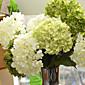 1 Větev Hedvábí Hortenzie Květina na stůl Umělé květiny