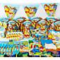 luksuzni Winnie Pooh 78pcs Birthday Party dekoracije dječji evnent stranka pomagala stranka dekoracija 6 ljudi koriste