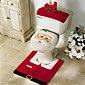 メリークリスマスと幸せな新年最高のクリスマスギフト& クリスマスの装飾のバスルーム便座カーペット