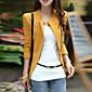 Sako Ženski Color block-Dugih rukava Četvrtasti izrez-Jesen Crna / Smeđa / Žuta Srednje Pamuk