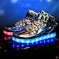 Tenisky-Koženka-Pohodlné Light Up boty-Pánské-Stříbrná Zlatá-Běžné Atletika Party-Plochá podrážka