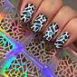 5pcs Nail Art samolepka Diecut Manikúra šablony make-up Kosmetické Nail Art design