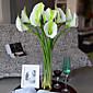 Set of 1 PCS 1 Větev Polyester Kala Lilie Květina na stůl Umělé květiny 28