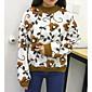 Dámské Jednoduché Běžné/Denní Standardní Rolák Květinový,Bílá Dlouhý rukáv Kulatý Polyester Podzim / Zima Střední Lehce elastické