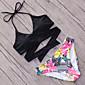 Ženski Bikini-Grudnjak na vezanjeS cvjetnim printom Jednobojni Križani Sport-Poliester