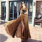 razrez seksi leopard šifon dugu ljetnu haljinu velike duljine ljuljačka suknja veliki size žene