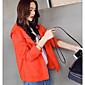 レディース カジュアル 夏 ジャケット,シンプル フード付き ソリッド レギュラー ポリエステル 長袖